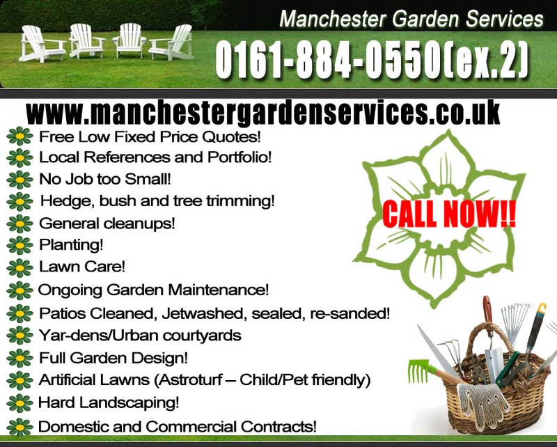 Manchester garden services manchester cleaning for Garden cleaning services