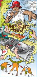 Book graffiti art,  DJ,  drama,  rapping,  street dance,  crafts & more