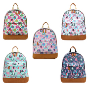 Retro Elephant Print Rucksack - JC Unique Wholesale UK