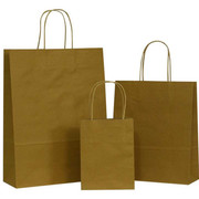 Stylish Brown Paper Bags with Handles at great prices