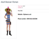 Adult Mexican Women Dresses is Available on online Fancy Dresses Shop