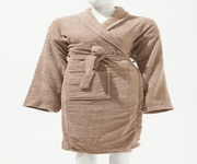 Buy Man & Woman Unisex 100 % Cotton Bathrobe - Coffee