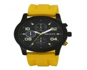 Buy Henley Gents Fashion Silicon Yellow Strap Watch