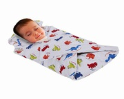 Soft Touch Dinosaurs Printed Baby Swaddle Blanket With Padded Pillow