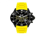 Buy Ice-Watch Chronograph Black and Yellow Big Silicone Watch