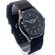 Mens Large Watch by Reflex with Black Canvas/Webbing Strap 101002gn