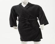 Buy Man & Woman Unisex 100 % Cotton Bathrobe - Black