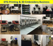 High Potential Newly Established DTG Printing & Embroidery Business