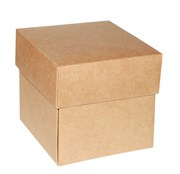 Square Kraft Gift Boxes With Lids