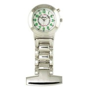 Ravel Electroluminescent Nurses Sillver Bracelet Fob Pin on Watch R110