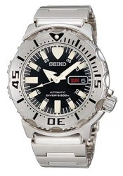 Seiko Automatic SKX779K Mens Diver Black Monster Watch