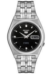 Seiko 5 Gents Black Dial Self Winding Automatic Bracelet Strap Watch