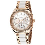 Accurist Women's Chronograph Stainless Steel Bracelet Watch LB211W