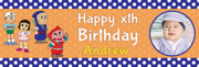 Personalised photo 1st birthday banner for low costs