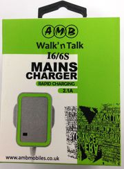 Iphone 5/6 Mains Charger Rapid Charging 2.1A