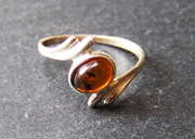 Solid Silver And Baltic Amber Ring at £25.00
