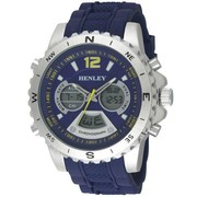 Henley Gents Chronograph watch with Blue Silicon strap HDG028.6