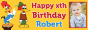 Personalise 1st birthday banner with your photo on Happy Birthday
