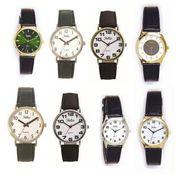 Reflex Men's White Dial Gold/Silver Case Leather Strap Watch