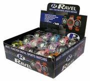 Ravel Ladies Boy Girl Mutl-Funtion Digital Sports PVC Strap Watch