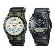 Casio Men's Dual Time Analogue/Digital Illuminator Sports Watch AW-80V