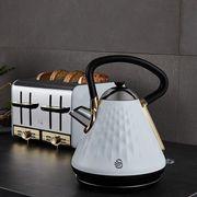 Swan Gatsby Kettle Toaster Set White & Golden