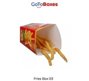 Custom French Fry Boxes Packaging Discount at GoToBoxes