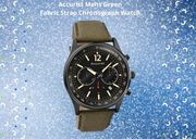 Accurist Mens Green Fabric Strap Chronograph Watch