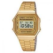 New Casio Gents Classic Digital Electro Luminescence Gold Brand Watch