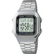 Casio A178WA-1ADF Men's Digital Stainless Steel Bracelet Watch